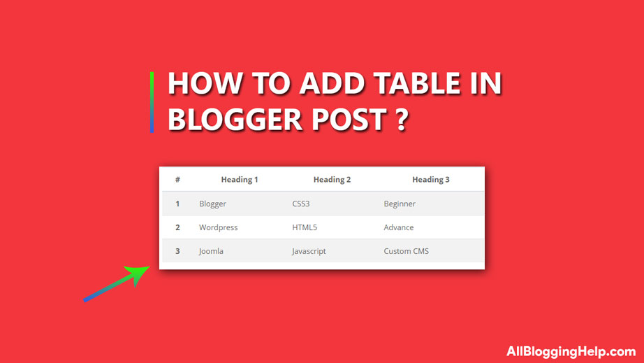 Add Responsive Table In Blogger Post